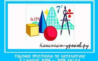 Рабочая программа по математике в 1 классе на 2017-2018 учебный год