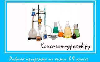 Рабочая программа по химии 9 класс Габриелян на 2018-2019 учебный год